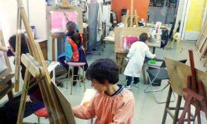 dibujo y pintura niños chambera